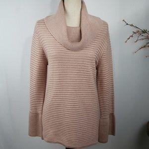 Calvin Kleing Cowl Neck Pink Metallic Sweater Top